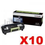 10 x Lexmark 503H (50F3H00) Genuine MS310 / MS312 / MS410 / MS415/ MS510 / MS610 High Yield Toner Cartridge - 5,000 pages