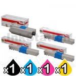 4 Pack Genuine OKI C301/ C321 Toner Combo [1BK,1C,1M,1Y]