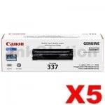 5 x Genuine Canon CART-337 Black Toner Cartridge - 2,100 pages