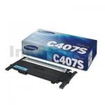 Genuine Samsung CLP-320N, CLP-325, CLX-3180, CLX-3185 [CLT-C407S C407] Cyan Toner ST998A - 1,000 pages