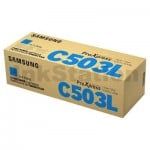 Genuine Samsung SLC3010ND SLC3060FR Cyan Toner Cartridge SU016A - 5,000 pages [CLT-C503L C503]