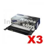 3 x Genuine Samsung CLP-310 CLP-315 CLX-3170 CLX-3175 CLT-K409S