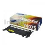 Genuine Samsung CLP-320N, CLP-325, CLX-3180, CLX-3185 [CLT-Y407S Y407] Yellow Toner SU476A - 1,000 pages
