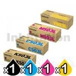 4-Pack Genuine Samsung SLC3010ND SLC3060FR [CLT503L] Toner Combo [1BK,1C,1M,1Y]