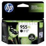 HP 955XL Genuine Black High Yield Inkjet Cartridge L0S72AA - 2,000 Pages