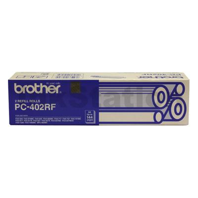 Brother PC-402RF Genuine Thermal Printing Ribbons [2 rolls Value Pack]