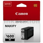 Canon PGI-1600BK Genuine Black Ink Cartridge - 400 pages
