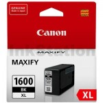 Canon PGI-1600XLBK Genuine Black High Yield Ink Cartridge - 1,200 pages