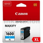 Canon PGI-1600XLC Genuine Cyan High Yield Ink Cartridge - 900 pages