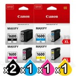 5 Pack Canon PGI-1600XL Genuine High Yield Ink Cartridge [2BK,1C,1M,1Y]