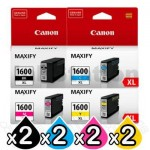 8 Pack Canon PGI-1600XL Genuine High Yield Ink Cartridge [2BK,2C,2M,2Y]