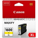Canon PGI-1600XLY Genuine Yellow High Yield Ink Cartridge - 900 pages