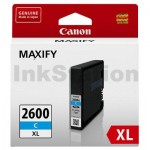 Canon PGI-2600XLC Genuine Cyan High Yield Ink Cartridge - 1,500 pages