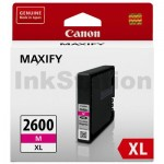 Canon PGI-2600XLM Genuine Magenta High Yield Ink Cartridge - 1,500 pages