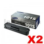 2 x Samsung ML2160/2165W, SCX3405F/FW (MLT-D101S 101) Genuine Black Toner Cartridge SU698A - 1,500 pages