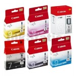 6-Pack Canon PIXMA iX7000,MX7600 Genuine InkJet Cartridge [1BK,1PBK,1C,1M,1Y,1CLEAR]