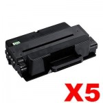 5 x Compatible Samsung ML-3310/ ML-3710/ SCX-4833/ SCX-5637/ SCX5737 (MLT-D205L 205) Black High Yield Toner SU965A - 5,000 pages