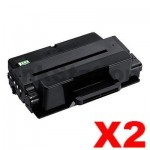 2 x Compatible Samsung SCX-5635FN / SCX-5835FN (MLT-D208L 208L) Black High Yield Toner SU989A - 10,000 pages