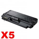 5 x Compatible Samsung ML-D1630A Black Toner Cartridge - 2,000 pages
