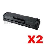 2 x Samsung ML2160/2165W, SCX3405F/FW (MLT-D101S 101) Compatible Black Toner Cartridge SU698A - 1,500 pages