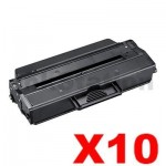 10 x Compatible Samsung ML2950ND, SCX4729ND (MLT-D103L 103) Black High Yield Toner Cartridge SU718A - 2,500 pages