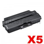5 x Compatible Samsung ML2950ND, SCX4729ND (MLT-D103L 103) Black High Yield Toner Cartridge SU718A - 2,500 pages