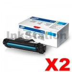 2 x Genuine Samsung SCX4655 (MLT-D117S 117) Black Toner Cartridge SU853A - 2,500 pages