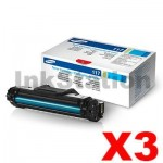 3 x Genuine Samsung SCX4655 (MLT-D117S 117) Black Toner Cartridge SU853A - 2,500 pages