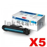 5 x Genuine Samsung SCX4655 (MLT-D117S 117) Black Toner Cartridge SU853A - 2,500 pages