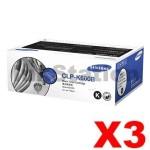 3 x Genuine Samsung CLP-K660B Black Toner Cartridge ST907A - 5,500 pages