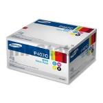 4-Pack Genuine Samsung CLP-320N, CLP-325, CLX-3180, CLX-3185 CLT-P407C Value Pack Toner SU388A [1BK,1C,1M,1Y]