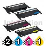 5-Pack Compatible Samsung CLP-310 CLP-315 CLX-3170 CLX-3175 Cartridge CLT-P409C [2BK,1C,1M,1Y]