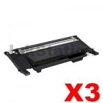 3 x Compatible Samsung CLP-310 CLP-315 CLX-3170 CLX-3175 [CLT-K409S, K409] Black Toner SU140A