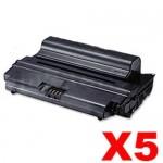 5 x Compatible Samsung SCX-D5530B Black Toner Cartridge SV200A - 8,000 pages
