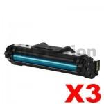 3 x Samsung SCX4655 (MLT-D117S 117) Compatible Black Toner SU853A - 2,500 pages