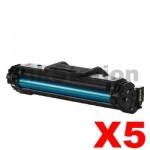 5 x Samsung SCX4655 (MLT-D117S 117) Compatible Black Toner SU853A - 2,500 pages
