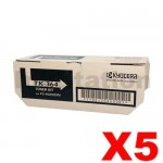 5 x Genuine Kyocera TK-364 Black Toner Cartridge FS-4020DN - 20,000 pages @ 5%