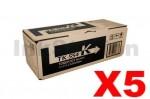 5 x Genuine Kyocera TK-554K Black Toner Cartridge FS-C5200DN - 7,000 pages