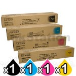 4 Pack Fuji Xerox DocuPrint C3055DX Genuine Toner Cartridge (CT200805-CT200808)