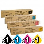 4 Pack Fuji Xerox DocuPrint C2255 Genuine Toner Cartridges (CT201160-CT201163)