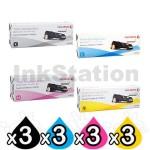 3 sets of 4 Pack Fuji Xerox DocuPrint CP305d,CM305df Genuine Toner Cartridges (CT201632-CT201635)
