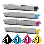 4-Pack Compatible Cartridge Combo for Fuji Xerox Phaser 6350 [1BK,1C,1M,1Y]
