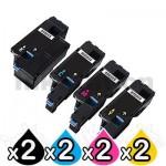 2 sets of 4 Pack Compatible Fuji Xerox DocuPrint CP105 CP205 CM205 CM215 CP215 Toner Cartridges(CT201591-CT201594)
