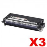 3 x Fuji Xerox DocuPrint C2100 / C3210DX Compatible Black Toner Cartridge - 8,000 pages (CT350485)