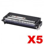 5 x Fuji Xerox DocuPrint C2100 / C3210DX Compatible Black Toner Cartridge - 8,000 pages (CT350485)
