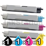 4-Pack Fuji Xerox DocuPrint C2535A Compatible Toner Cartridge [1BK,1C,1M,1Y]