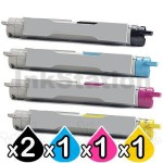 5-Pack Fuji Xerox DocuPrint C2535A Compatible Toner Cartridge [2BK,1C,1M,1Y]