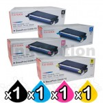 4 Pack Fuji Xerox DocuPrint C3290FS Genuine Toner Cartridges (CT350567-CT350570)