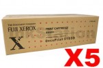 5 x Fuji Xerox DocuPrint 5105D Genuine Black Toner Cartridge - 15,000 pages (CT202338)