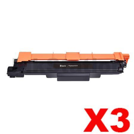 3 x Brother TN-253BK Compatible Black Toner Cartridge - 2,500 pages